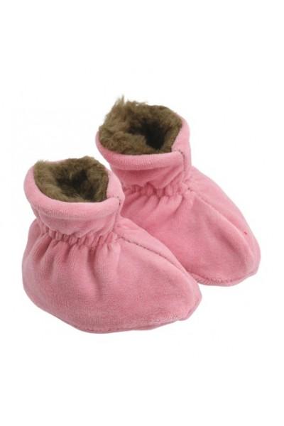 Botosei bebe catifea si blanita roz