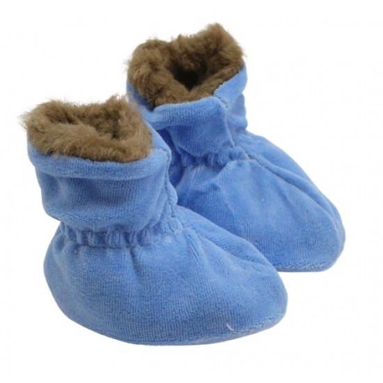 Botosei bebe catifea si blanita albastru