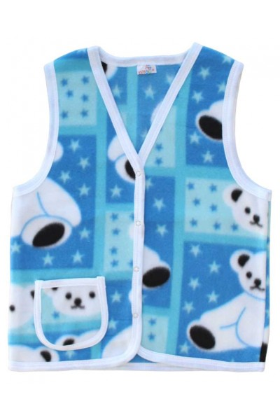 vesta polar albastra imprimeu urs polar
